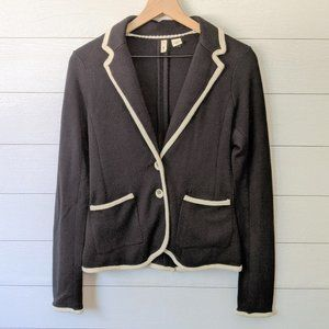 Anthropologie MOTH Joliet Black Knit Blazer M